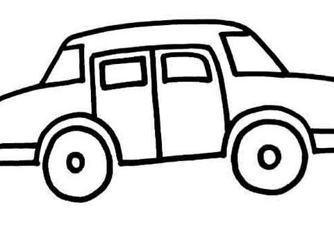 小汽车卡通汽车简笔画