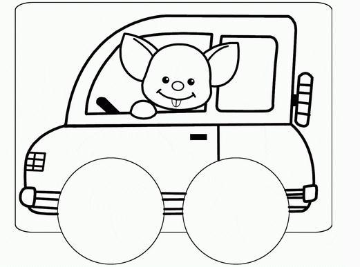 小汽车卡通简笔画小汽车的图片