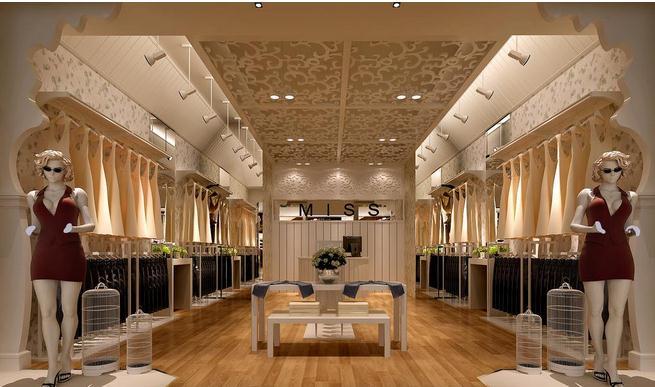 设计欧式女装店面装修设计图_时尚服装店面装修设计图