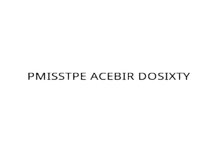 PMISSTPE ACEBIR DOSIXTY
